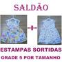 Atacado 30 Vestidos Infantil 2 Modelos Estampas Sortidas