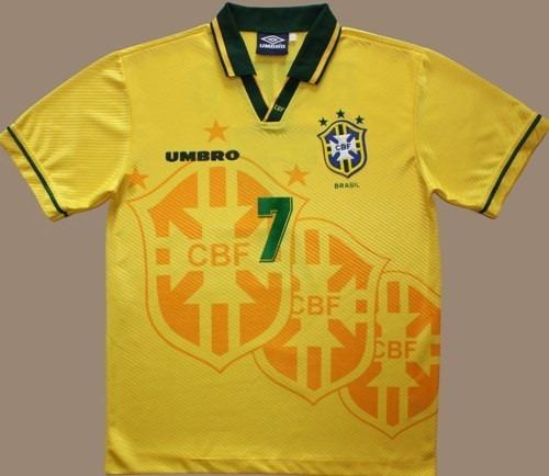 55fec82ac52ab Camisa Retrô - Seleção Brasileira 94 - Brasil Tetra - R  159
