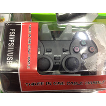 Controle Para Video Game Ps2 Ps3/ Usb 3in1 Com Fio