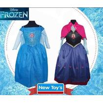 Disfraz Frozen Anna Disney Original New Toys Talle 2