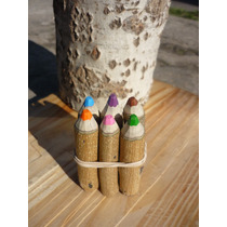 Sourvenirs Mini Lapicitos Ecológicos X 10 Set De 6 Colores.