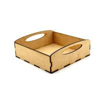 Caja 15x15 De Mdf Decorativa Agarradera Para Guardar Cosas