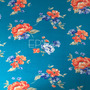 Flores Azul Claro-Naranja (Viscosa)
