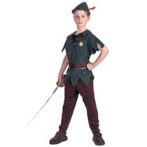 Infantil Peter Pan Traje Medio Grandes Chicos (7-8)