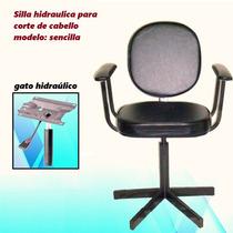 Silla Para Barberia Corte De Cabello Sencilla
