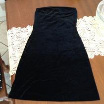 Vestido De Festa Curto Tomara Que Caia Preto Veludo Molhado