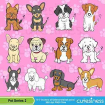 Kit Imprimible Perros 7 Imagenes Clipart