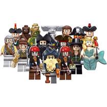 16 Figs Piratas Del Caribe Jack Sparrow Compatible Con Lego