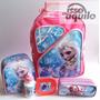 Kit Mochila Elsa Frozen Rodinhas Lancheira Termica Infantil