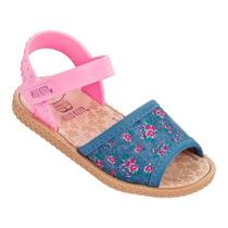 Sandália Infantil Hello Kitty Jeans Verão 21478 - Clique+