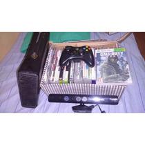 Xbox 360 Destravado, 2 Controles Originais, Kinect+ 25 Jogos