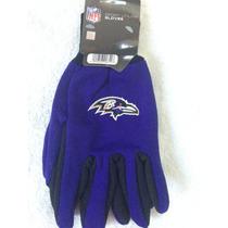 Nfl Baltimore Ravens Cuervos Guantes De Trabajo