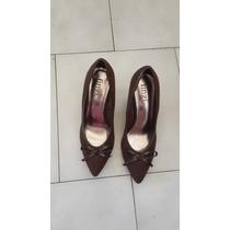 Zapatos De Tacon Altos Gamuzados