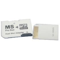 Adaptador Memory Stick Pro Duo Para Micro Sd Psp Camaras