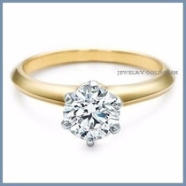 Anillo De Compromiso Diamante Natural .45ct Oro 10k -50% 166