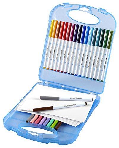 Crayola Super Tips Marcadores Lavables Y Juego De Papel, 25 ...