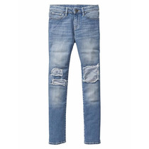 Pantalon Jean C/parche Gap Talles 8,12 Y 14 -originales Usa