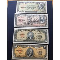 Juego De 4 Billetes Cubanos Serie 1960 El Che