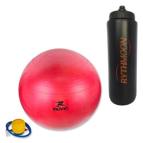 e60d9c0423 Kit Bola Pilates Fitball C  Bomba 55cm Vermelha + Squeeze - R  57