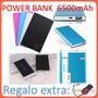 Power Bank 6500 Mah Batería Externa D Respaldo Ultraportatil