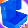 Cajas Archivo Plana Plastico Oficio Reforzada Pack 25u
