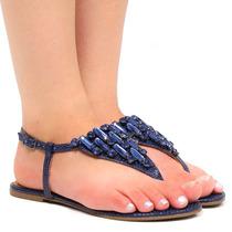 Sandália Rasteira Zariff Shoes Pedras 29012 | Zariff