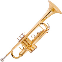 Trompete Vogga Vstr701 Laqueado Bb Com Bocal E Case