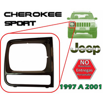 97-01 Jeep Cherokee Sport Bisel Delantero Faro Derecho