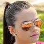 Óculos Rayban Aviador Rosa Espelhado Importado Frete Grátis