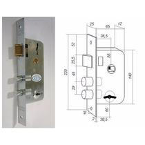 Cerradura Seguridad Doble Paleta Roa 1001 Tipo Prive -trabex