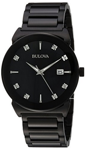 83a839a22a4 Relógio Bulova Masculino Preto Com Diamantes Original - R  2.199