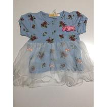 Vestido Infantil Menina De Cotton Florido E Saia De Tule