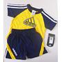 Conjunto Adidas Bebê Camiseta E Shorts - 12 Meses