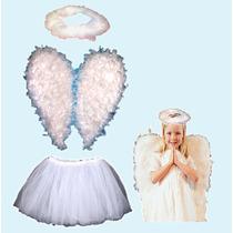 Disfraz De Angel Blanco Para Niña Pastorelas Navidad