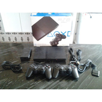 Playstation 2 Slim 2 Controles Memory Card E 5 Jogos Brindes