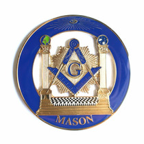Mason Emblema Auto Coche Masoneria Simbolo Masonico Acero