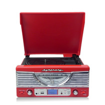 Toca Disco Vitrola Ctx Symphony Retro Usb Radio Fm Grava Lp