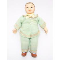 Boneco Miniatura -criança- Esc.1/12 Casa De Boneca-porcelana