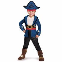 Disfraz Jake El Pirata Capitán 4/6 Años Original Entrega Inm