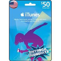 Tarjeta Gift Card Itunes De 50 Usd Para Iphone Ipad Ipod Mac