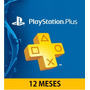Psn Playstation Plus / 12 Meses / Ps4
