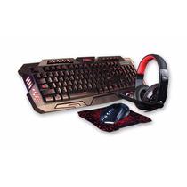 Combo Gamer Noga Teclado + Mouse + Pad + Auricular Kit Box