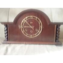 Antigo Relógio De Mesa Silco De 3 Cordas