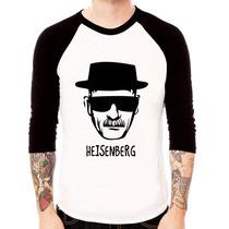 Camisa Blusa Raglan 3/4 Heisenberg Breaking Bad