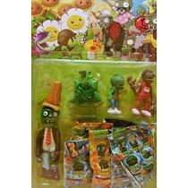 Plantas Vs Zombies Set De Muñecos!!!