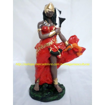 Escultura Mãe Iansã Linda Imagem 23cm Orixa Africano Oferta