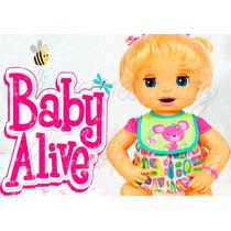 Baby Alive Linda Surpresa Papel Arroz A4 Para Bolo