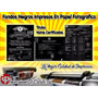 Fondo Negro Impreso De Títulos Y Notas Cert. High Definition