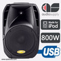 Corneta Amplificada Sps Audio 15p630ui 800 W Puerto Usb Ipod