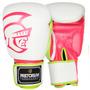 Luva De Boxe Pretorian Training - Branco E Pink - 12oz